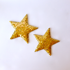 gold sequin star