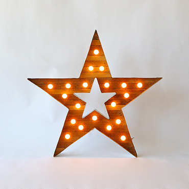 star sign with bulbs