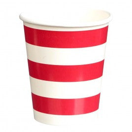 red & white paper cups