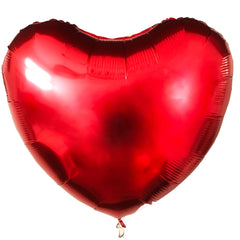 large ruby red mylar heart balloon