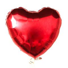 ruby red mylar heart balloon