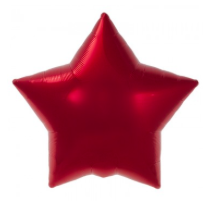red star mylar balloon - 22''