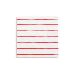 red striped large napkins
