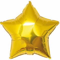 star gold foil balloon