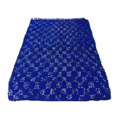 blue moroccan wedding blanket