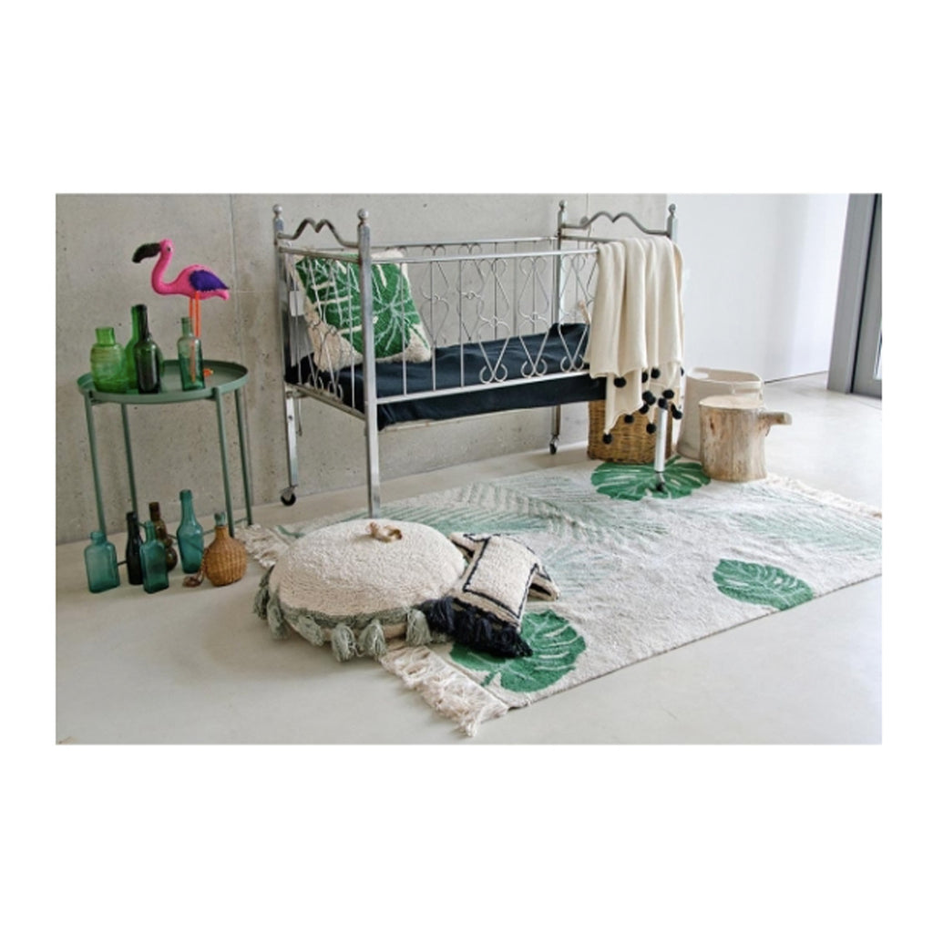 Machine Washable Rugs For Living Room Tropical Green Machine Washable Rug 4 7 X 6 7 Fire And