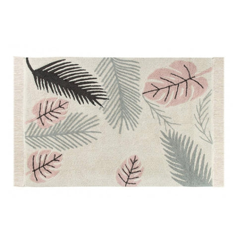 Tropical Pink Machine Washable Rug 4' 7'' x 6' 7''