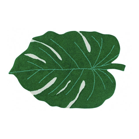 Monstera Leaf Machine Washable Rug 4' x 5' 3''