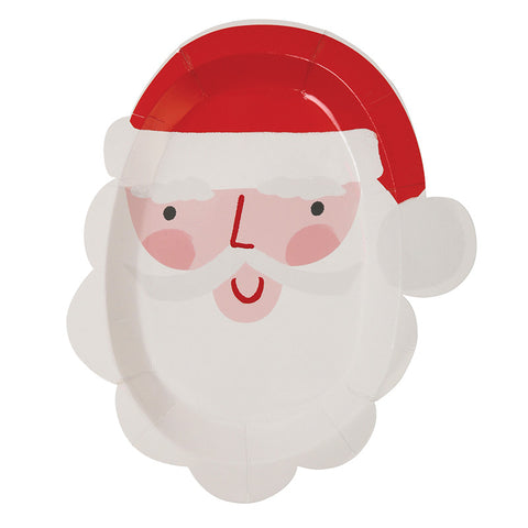 santa cut-out small plates