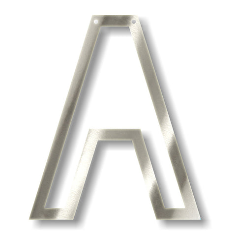 silver acrylic bunting letter