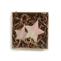 2 star candles - Pink