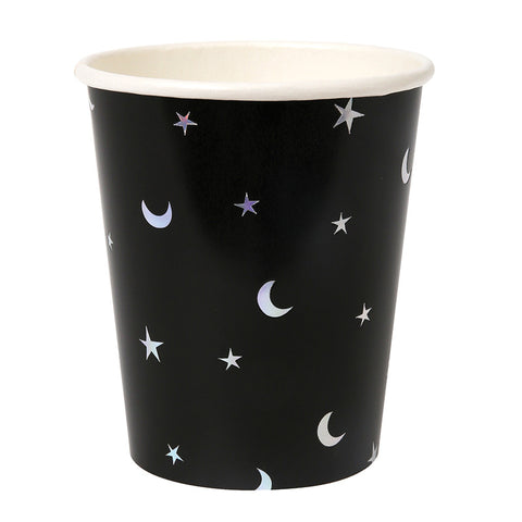 star and moon foiled cups