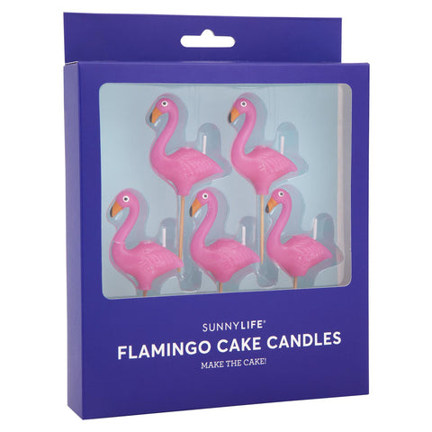 flamingo cake candles