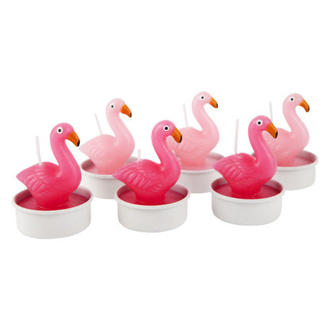 flamingo tea light candle 6 set