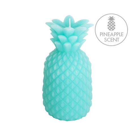 turquoise pineapple candle