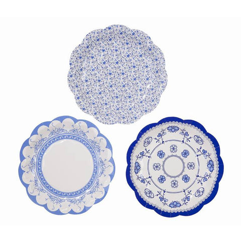 party porcelain blue small plates
