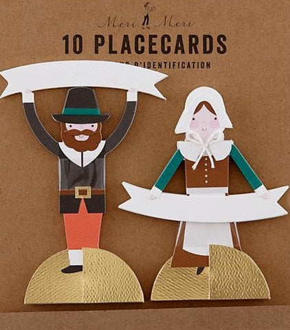 pilgrim thanksgiving placecards