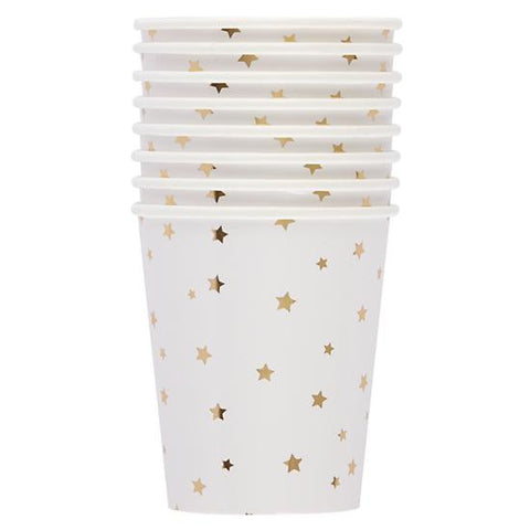 Gold stars cups