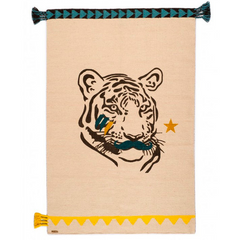 Varanassi rug - Tiger with mustache