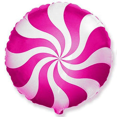 candy swirl balloon magenta and white