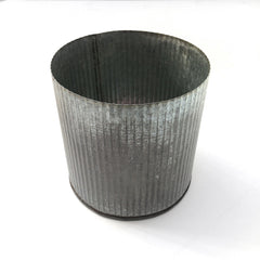 medium wavy tin container