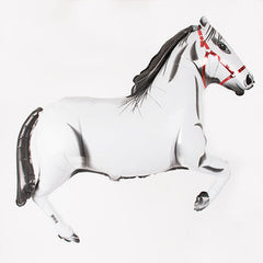 white horse balloon