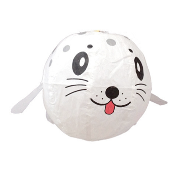 white seal paper balloon