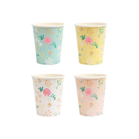 pastel cups wildflower
