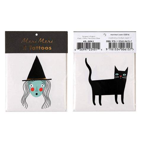 witch and cat tattoos