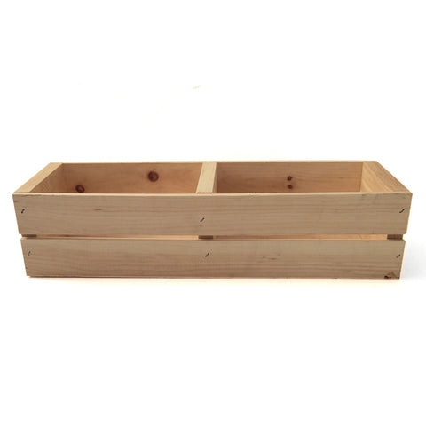 wood double crate
