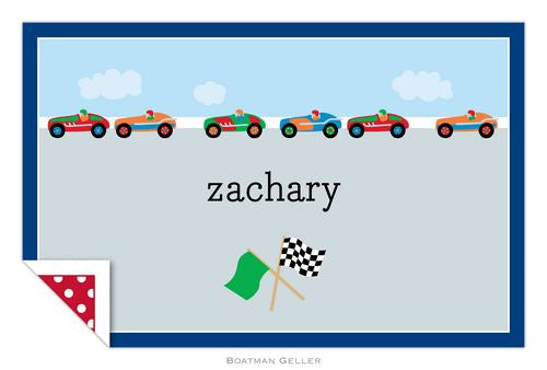 Race Cars Laminated Placemat