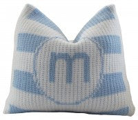 Pillow with Initial and Double Border