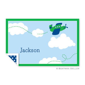 Airplane Laminated Placemat With Name