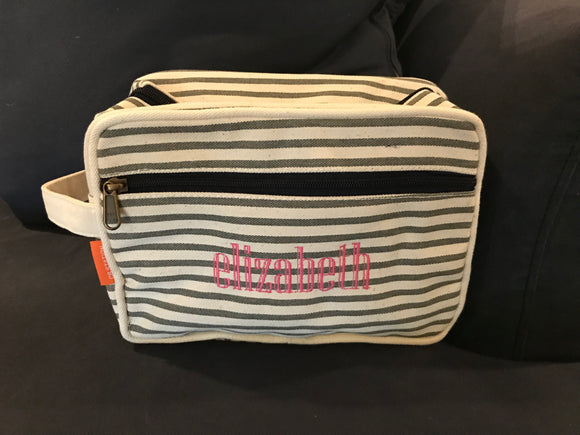 Canvas Cosmetic Case/Pouch