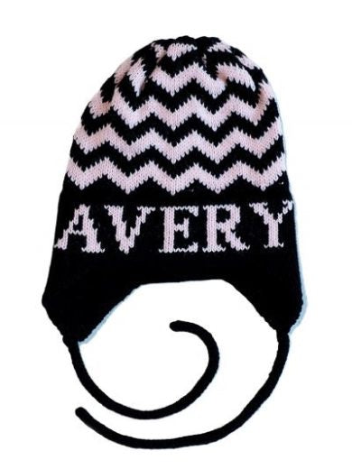 Chevron Hat with Earflaps