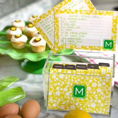 Monogrammed Recipe Cards and Boxed Set