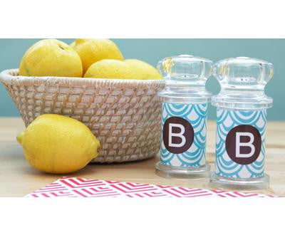 Monogrammed Salt and Pepper Shakers