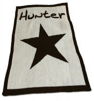 Star and Name Stroller Blanket