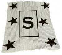Stars and Initial Stroller Blanket