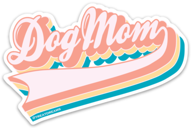 Dog Mom Retro- Decal - Treat Dreams