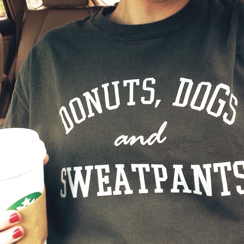 Donuts, Dogs and Sweatpants- Pepper Long Sleeve Shirt