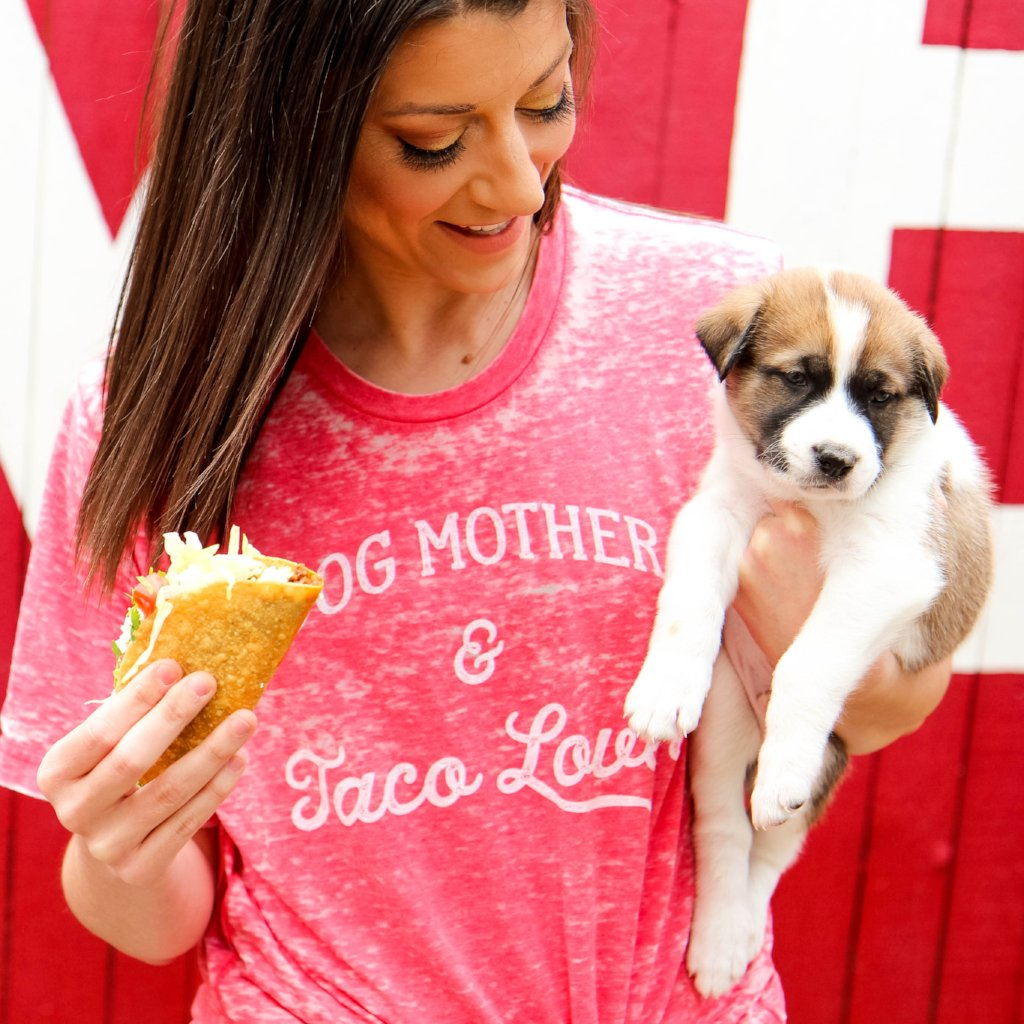 Dog Mother and Taco Lover- Short Sleeve Shirt - Treat Dreams