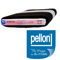 Shape-Flex Woven Fusible Interfacing (Black) - Pellon SF101B