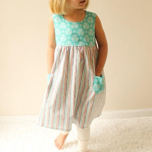 Made by Rae - Geranium Dress - Sizes Newborn-5T (Baby/Toddler)
