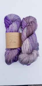 Lichen and Lace - 80/20 Sock - Lilac