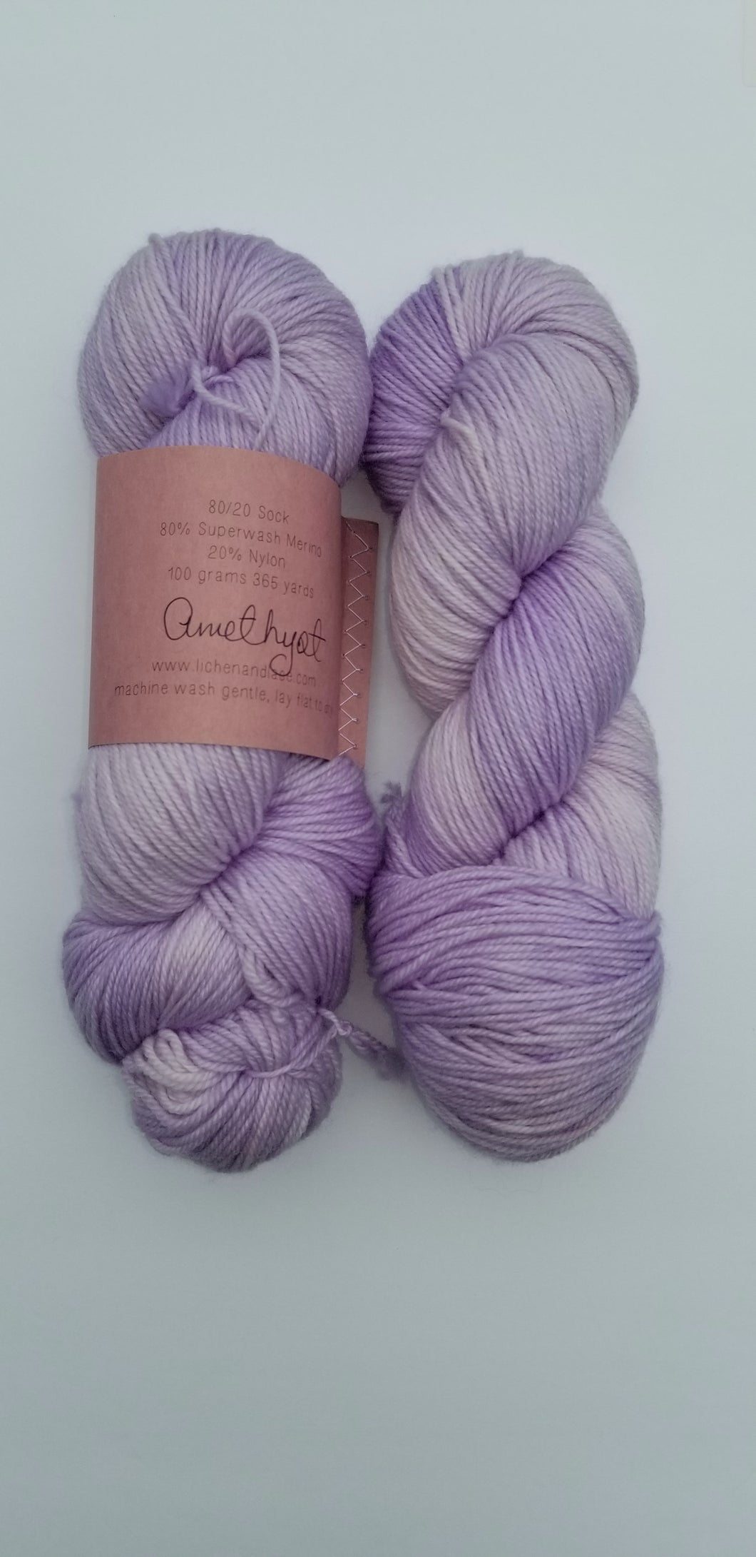 Lichen and Lace - 80/20 Sock - Amethyst