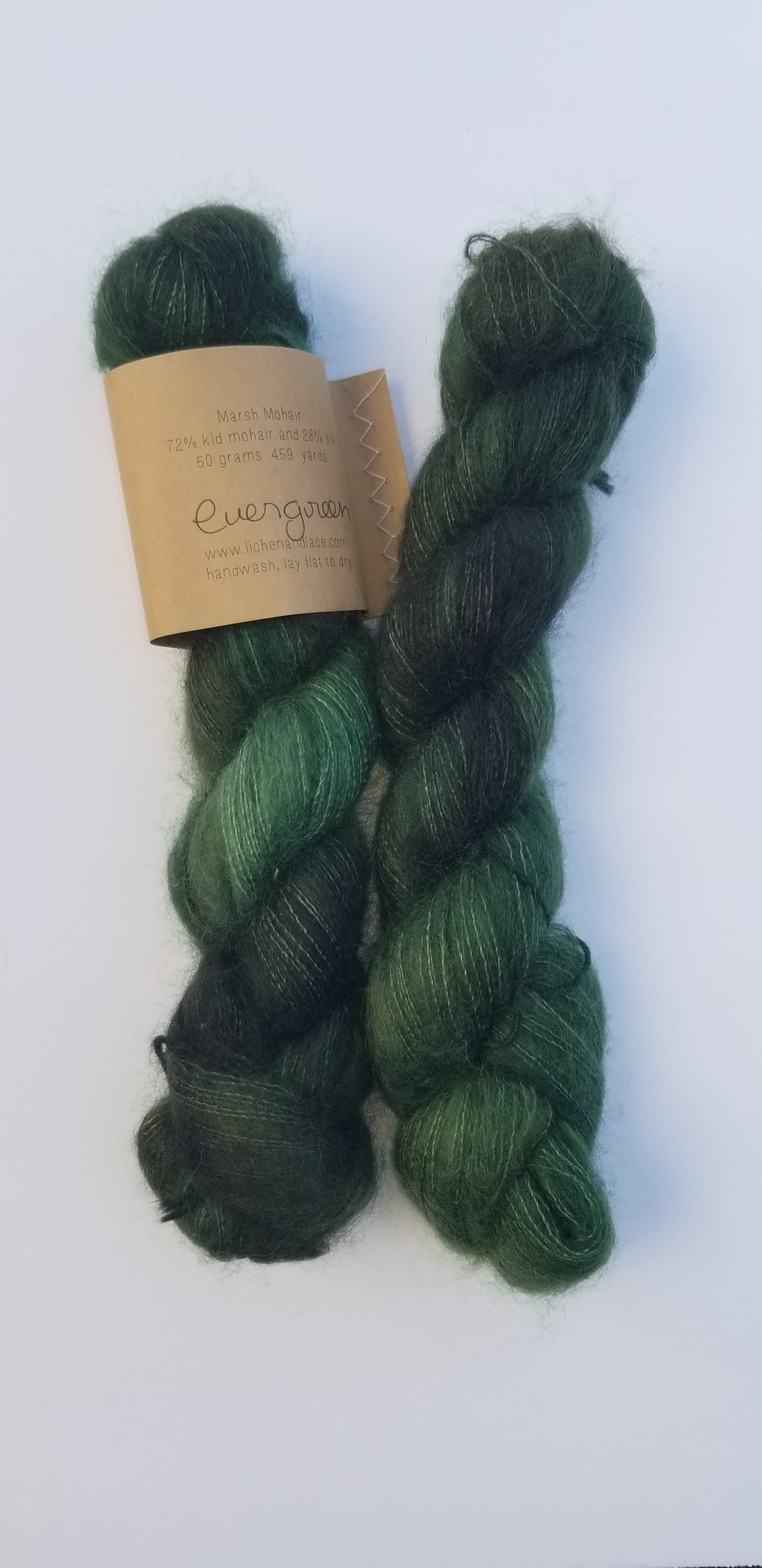 Lichen and Lace -  Marsh Mohair - Evergreen