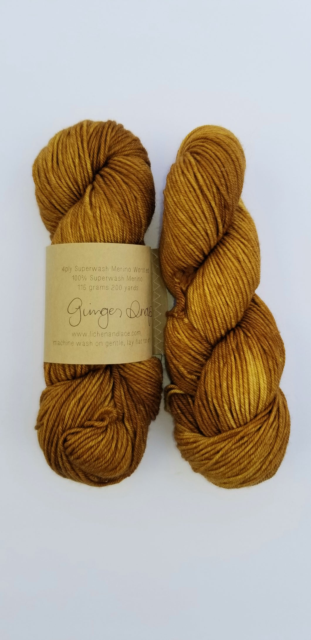 Lichen and Lace - Worsted - Ginger Snap