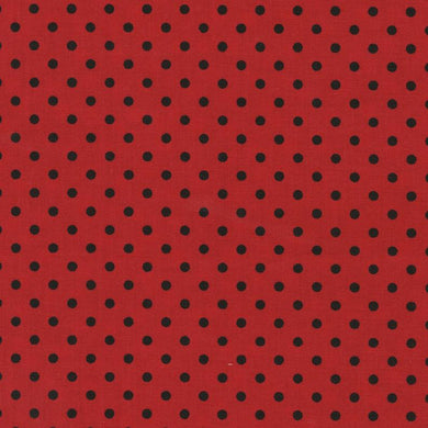 Timeless Treasures - Polka Dot- Ladybug