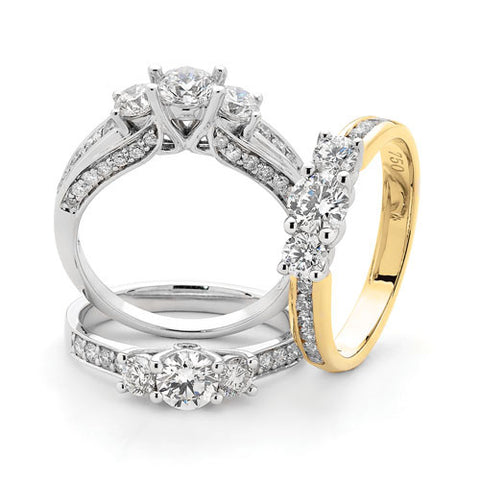 Diamond & Gem Set Gold Rings